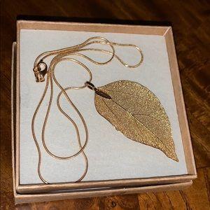 Make offer! Gold leaf necklace